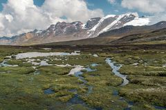 Peruvian Andes landscape stock photography