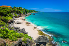 Scenic landscape of high cliff on Tropical beach Bali Royalty Free Stock Photography