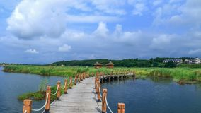 Scenic landscape of Hsing-K`ai hu wetland park 1. Taken at  Hsing-K`ai hu wetland park, Aug 12,2015, Mishan city , Heilongjiang province ,China Stock Photo