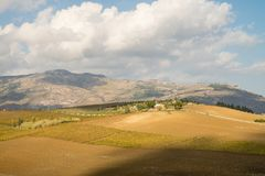 Scenic landscape of italian island of Sicily Royalty Free Stock Photography