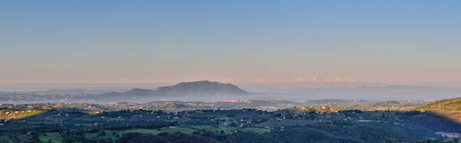 Scenic landscape, Italy Royalty Free Stock Images