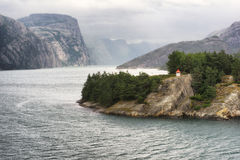 Scenic landscape in Lysefjord, Norway Royalty Free Stock Images