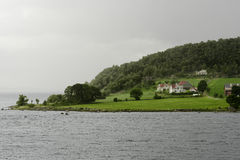 Scenic landscape in Lysefjord Royalty Free Stock Photo