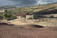 Scenic Landscape At Maragua Crater. Village Inside The Crater Of Maragua Dormant Volcano, Bolivia.  stock images