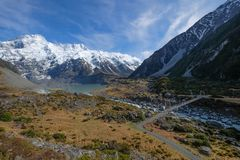 Scenic landscape of Mount Cook, New Zealand royalty free stock images
