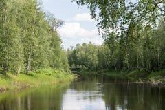 Scenic landscape of nature in Siberia Stock Photo