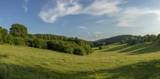 Scenic landscape near Busy in the french region of Jura. Department Bourgogne royalty free stock image