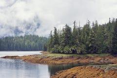 Fjord near Ketchikan Alaska. Stock Photos