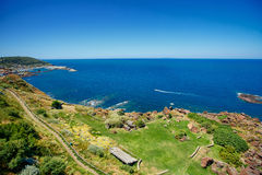 Scenic landscape on the north coast of Sardinia Royalty Free Stock Photography