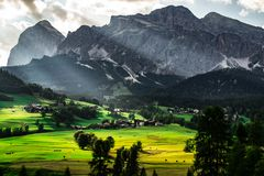 Scenic landscape view Dolomites Italy royalty free stock photos