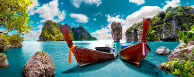 Scenic landscape.Phuket Seascape. Scenery Thailand sea and island .Adventures and travel concept Stock Photos