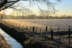 Scenic landscape in the Province Limburg, The Netherlands Stock Images