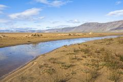 Scenic landscape of Raudisandur beach, west fjords, Iceland. Scenic landscape of Raudisandur beach, west fjords Iceland royalty free stock image