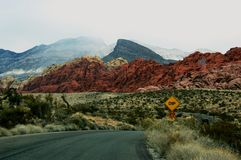 Scenic landscape of Red Rock Canyon National Conservation Area royalty free stock photography