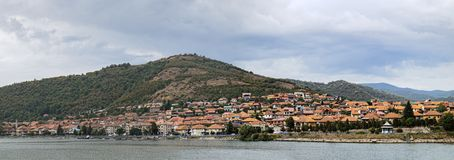Scenic landscape with Orsova town, Romania Royalty Free Stock Photo
