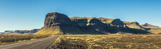 Scenic landscape with the ring road in Iceland Stock Image
