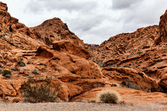 Scenic Landscape of Rock Formations, USA Stock Image