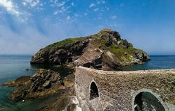 Scenic landscape of San Juan de Gaztelugatxe, Basque Country, Spain stock photo