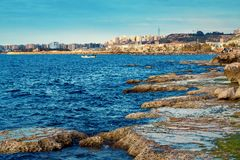 Tripoli, Lebanon. Scenic landscape of sea coast, Tripoli, Lebanon royalty free stock images
