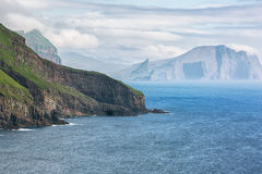 Scenic landscape seascape from Faroe islands. Stock Photos