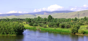Scenic landscape in Siberia Russia. Royalty Free Stock Photos