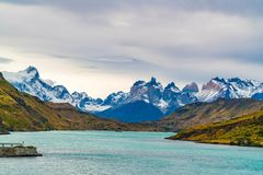 Scenic landscape of Torres del Paine National Park in Chile stock photos