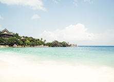 Scenic landscape of a tropical beach Stock Photo