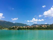 Scenic landscape of Turano lake in Lazio Royalty Free Stock Image