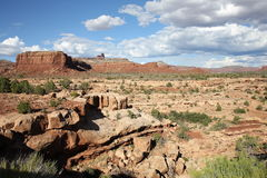 Scenic landscape in Utah, USA. Scenic landscape in Utah, in the background Jacob`s Chair, United States of America Royalty Free Stock Image