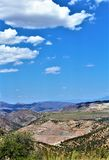 Bluebird Mine, Tonto National Forest, Globe-Miami District, Gila County, Arizona, United States. Scenic landscape view of Bluebird Mine, located in Tonto Stock Images