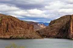 Canyon Lake, State of Arizona, United States. Scenic landscape view of Canyon Lake, located in Maricopa County Arizona, in the United States Stock Image