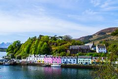Portree town, Isle Of Skye, Scotland royalty free stock images
