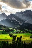 Scenic landscape view Dolomites Italy royalty free stock photography