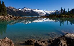 A scenic landscape view at Garibaldi Provincial park Stock Image