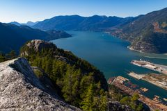 Scenic landscape view of Howe Sound Stock Photo