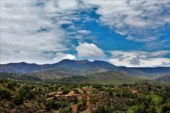 Salt River Canyon Wilderness Area, Tonto National Forest, Gila County, Arizona, United States. Scenic landscape view of the lower Salt River Canyon Wilderness stock photography