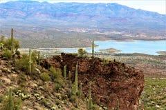 Theodore Roosevelt Lake, Gila County, Arizona. Scenic landscape view of Theodore Roosevelt Lake in Gila County, Arizona Stock Images