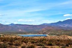 Theodore Roosevelt Lake, Gila County, Arizona. Scenic landscape view of Theodore Roosevelt Lake in Gila County, Arizona Royalty Free Stock Images