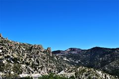 Mount Lemmon, Tucson, Arizona, United States. Scenic landscape view with vegetation of Mount Lemmon located in Tucson, Arizona in the United States stock images