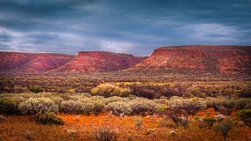 Scenic Landscape under clouds. Scenic landscape of the Watarrka National Park, Central Australia, Northern Territory, Australia royalty free stock images