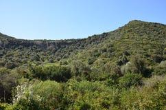 Scenic landscape of west Sardinia. Italy royalty free stock image