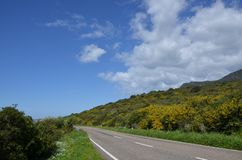 Scenic landscape of west Sardinia. Italy royalty free stock photos