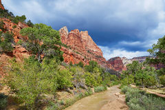Scenic landscape in Zion national park, USA Stock Image