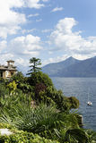 Scenic landscapes of Como lake Stock Images