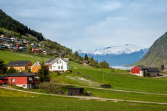 Scenic landscapes of the Norwegian fjords. Stock Images