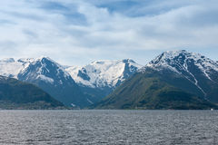 Scenic landscapes of the Norwegian fjords. Royalty Free Stock Photos