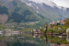 Scenic landscapes of the Norwegian fjords Royalty Free Stock Photography