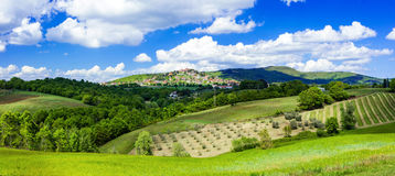Free Scenic Landscapes Of Italy - Montegabbione , Umbria Royalty Free Stock Photo - 75214335