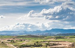 Scenic landscapes of Rioja area of Spain stock photos