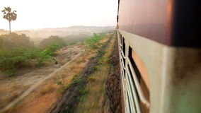 Scenic landscapes from train window Stock Photography